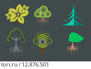 Деревья (вектор) Стоковая иллюстрация, иллюстратор Александра Лисица / Фотобанк Лори