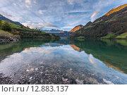 Рассвет на горном озере. Стоковое фото, фотограф Константин Ламин / Фотобанк Лори