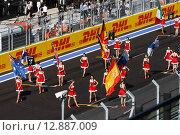 Девушки Формулы 1 в Сочи (2014 год). Редакционное фото, фотограф Свистунов Павел / Фотобанк Лори