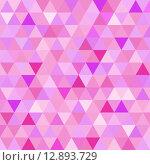 Купить «Seamless pattern pink triangle geometry mosaic», иллюстрация № 12893729 (c) PantherMedia / Фотобанк Лори