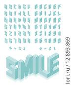 Купить «Isometric 3d type font set», иллюстрация № 12893869 (c) PantherMedia / Фотобанк Лори