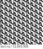Купить «Abstract isometric 3d pattern background», иллюстрация № 12893905 (c) PantherMedia / Фотобанк Лори