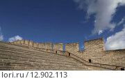Вид на один из самых живописных участков Великой китайской стены, Пекин (2015 год). Стоковое видео, видеограф Владимир Журавлев / Фотобанк Лори