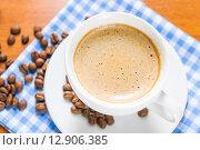 Купить «Чашка капучино», фото № 12906385, снято 9 октября 2015 г. (c) Алёшина Оксана / Фотобанк Лори