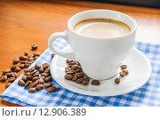 Купить «Чашка утреннего кофе», фото № 12906389, снято 9 октября 2015 г. (c) Алёшина Оксана / Фотобанк Лори