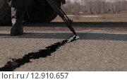 Купить «Дорожные работы», видеоролик № 12910657, снято 8 октября 2015 г. (c) Алексей Жарков / Фотобанк Лори