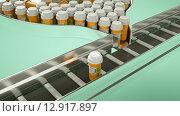 Лекарство в пластиковых баночках на производственной линии, конвейер. Стоковое фото, фотограф Арсений Герасименко / Фотобанк Лори
