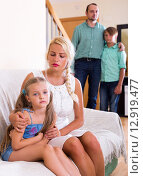 Conflict in a family. Стоковое фото, фотограф Яков Филимонов / Фотобанк Лори