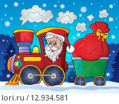 Купить «Christmas train theme image 2», иллюстрация № 12934581 (c) PantherMedia / Фотобанк Лори