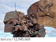 Купить «Памятник героям Первой мировой войны в парке Победы на Поклонной горе, Москва, Россия», фото № 12945669, снято 22 июля 2015 г. (c) Татьяна Федулова / Фотобанк Лори