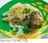 Купить «Pescado frito», фото № 12947725, снято 17 октября 2015 г. (c) Александр Fanfo / Фотобанк Лори