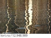 Купить «Разноцветные абстрактные полосы на воде», эксклюзивное фото № 12948989, снято 29 апреля 2010 г. (c) lana1501 / Фотобанк Лори