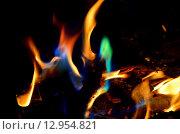 Купить «Языки пламени разного цвета», фото № 12954821, снято 21 октября 2015 г. (c) Игорь Кутателадзе / Фотобанк Лори