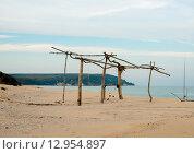 Безлюдный пляж в осенний период. Стоковое фото, фотограф Кононенко Александр / Фотобанк Лори
