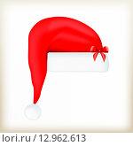 Шапка Санта-Клауса. Стоковая иллюстрация, иллюстратор Буркина Светлана / Фотобанк Лори