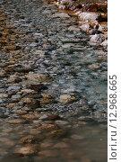 Горная река у подножия Гегского водопада. Абхазия (2015 год). Стоковое фото, фотограф Ольга Коретникова / Фотобанк Лори