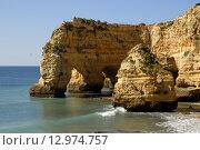Купить «portuguese Algarve beach, the south of the country», фото № 12974757, снято 19 июня 2019 г. (c) PantherMedia / Фотобанк Лори