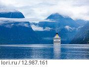 Купить «Cruise Liners On Hardanger fjorden», фото № 12987161, снято 17 июня 2015 г. (c) Андрей Армягов / Фотобанк Лори