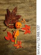 Купить «Хэллоуин, украшение на столе», фото № 12988137, снято 11 октября 2015 г. (c) Ирина Новак / Фотобанк Лори