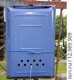 Старый почтовый ящик прикрученный проволокой. Стоковое фото, фотограф Олейникова Галина / Фотобанк Лори
