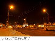 Купить «Ночная Кострома, центр города», фото № 12996817, снято 14 марта 2012 г. (c) ElenArt / Фотобанк Лори
