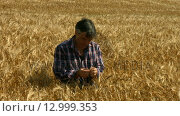 Купить «Farmer checking his crops», видеоролик № 12999353, снято 15 октября 2019 г. (c) Wavebreak Media / Фотобанк Лори