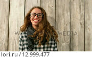 Купить «Pretty girl blowing a kiss at the camera», видеоролик № 12999477, снято 5 июня 2020 г. (c) Wavebreak Media / Фотобанк Лори