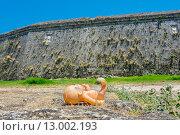 Купить «Потерянная кукла на фоне средневековой стены. Родос, Греция», фото № 13002193, снято 4 июля 2015 г. (c) Andrei Nekrassov / Фотобанк Лори