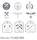 Купить «Железнодорожный эмблемы», иллюстрация № 13002989 (c) Дмитрий Никитин / Фотобанк Лори