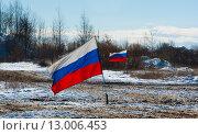 Два Российских флага. Стоковое фото, фотограф Павел Мрастев / Фотобанк Лори