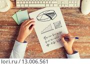 Купить «close up of hands solving task or writing equation», фото № 13006561, снято 10 октября 2014 г. (c) Syda Productions / Фотобанк Лори