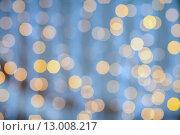 Купить «blurred glden lights background», фото № 13008217, снято 10 сентября 2014 г. (c) Syda Productions / Фотобанк Лори