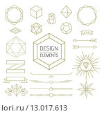 Купить «Design element set mono line art geometry symbol», иллюстрация № 13017613 (c) PantherMedia / Фотобанк Лори