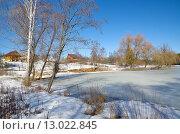 Купить «Весенний сельский пейзаж», эксклюзивное фото № 13022845, снято 14 марта 2015 г. (c) Елена Коромыслова / Фотобанк Лори