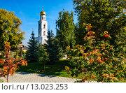 Купить «Колокольня женского Иверского монастыря в Самаре», фото № 13023253, снято 18 октября 2015 г. (c) Сергей Лысенко / Фотобанк Лори
