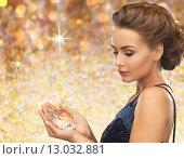 Купить «woman in evening dress with diamond crystal», фото № 13032881, снято 17 марта 2013 г. (c) Syda Productions / Фотобанк Лори