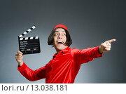 Купить «Man wearing red fez hat», фото № 13038181, снято 30 сентября 2015 г. (c) Elnur / Фотобанк Лори