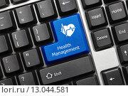 Купить «Концептуальная клавиатура. Клавиша Health Management», фото № 13044581, снято 30 сентября 2011 г. (c) Самохвалов Артем / Фотобанк Лори