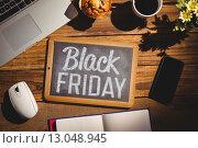 Купить «Composite image of black friday advert», фото № 13048945, снято 25 июня 2019 г. (c) Wavebreak Media / Фотобанк Лори