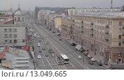 Купить «Вид на центр Санкт-Петербурга и купола Казанского собора», видеоролик № 13049665, снято 13 мая 2015 г. (c) Павел Котельников / Фотобанк Лори
