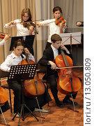 Купить «Балашиха, группа детей играют в оркестре», эксклюзивное фото № 13050809, снято 31 октября 2015 г. (c) Дмитрий Неумоин / Фотобанк Лори