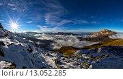 Панорама Алагирского ущелья. Стоковое фото, фотограф Валера Сабанов / Фотобанк Лори
