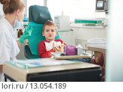 Купить «Young boy in a dental surgery», фото № 13054189, снято 25 марта 2019 г. (c) PantherMedia / Фотобанк Лори