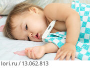 Купить «Детская простуда», фото № 13062813, снято 10 ноября 2015 г. (c) Айнур Шауэрман / Фотобанк Лори