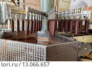 Автоматическая линия по производству эскимо, фото № 13066657, снято 13 октября 2015 г. (c) Евгений Ткачёв / Фотобанк Лори