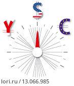 Купить «Переключатель между долларом, евро и йеной», иллюстрация № 13066985 (c) Евгений Ткачёв / Фотобанк Лори