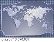 Синий фон, карта мира. Стоковая иллюстрация, иллюстратор Людмила Любицкая / Фотобанк Лори
