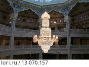 Купить «Московская Соборная мечеть (интерьер), Москва, Россия», фото № 13070157, снято 6 ноября 2015 г. (c) Владимир Журавлев / Фотобанк Лори