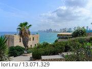Тель-Авив и море. Стоковое фото, фотограф Андрей Жуков / Фотобанк Лори