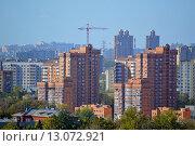 Купить «Москва. Вид на дома в районе Коптево», фото № 13072921, снято 3 октября 2015 г. (c) Александр Замараев / Фотобанк Лори